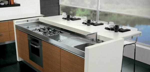 Un plan de travail coulissant donnera plus d 39 espace dans votre cuisine for Plan de travail pour bar