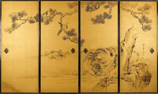 portes-coulissantes-japonaises-de-peintures-traditionnelles