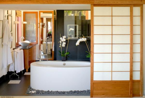Les portes coulissantes japonaises pour votre int rieur for Meuble salle de bain porte coulissante
