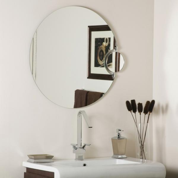 Mod les de miroirs ronds pour la salle de bain for Petit miroir original