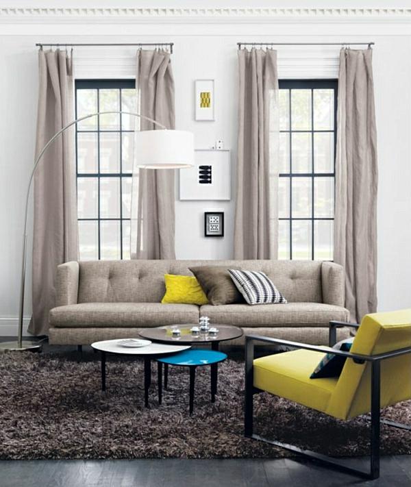 Les rideaux en lin naturel simbolisent le confort et l for Idee deco rideau salon