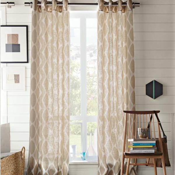 Les rideaux en lin naturel simbolisent le confort et l 39 l gance la maison - Rideaux en lin naturel ...