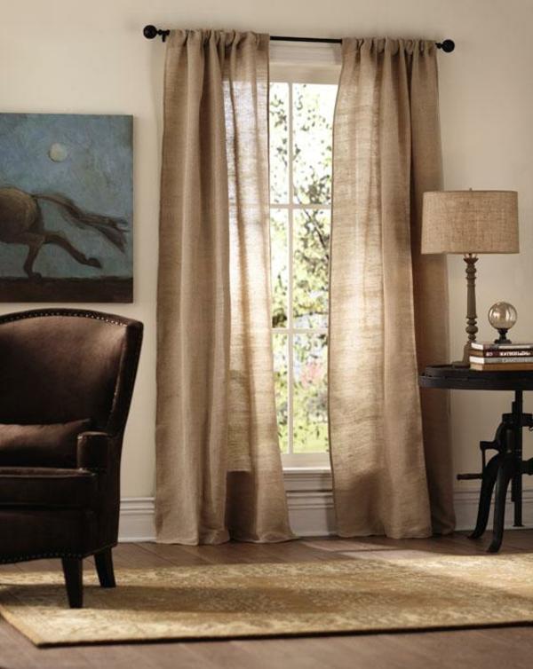 ✿ Les rideaux en lin naturel simbolisent le confort et l'élégance à la maison