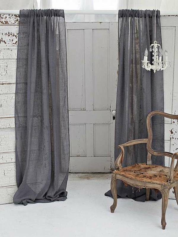 les rideaux en lin naturel simbolisent le confort et l 39 l gance la maison. Black Bedroom Furniture Sets. Home Design Ideas