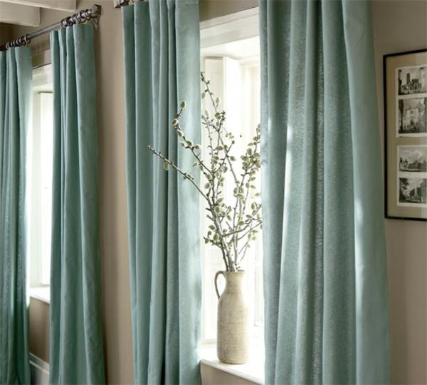 Les rideaux en lin naturel simbolisent le confort et l for La maison des rideaux