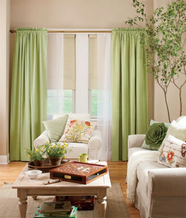 Les rideaux en lin naturel simbolisent le confort et l for Deco rideaux pour salon