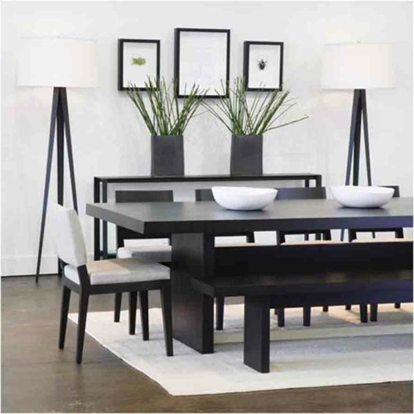 salle-a-manger-moderne-chaises-noirs