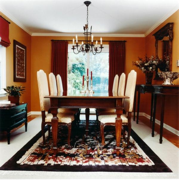 salle-a-manger-moderne-tapis-au-sol