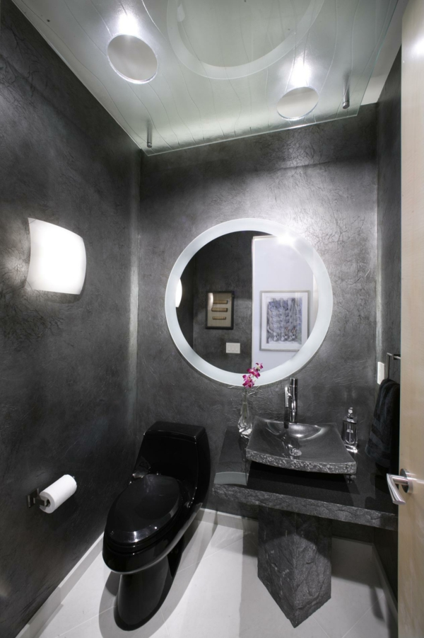 Mod les de miroirs ronds pour la salle de bain - Lumiere pour miroir salle de bain ...