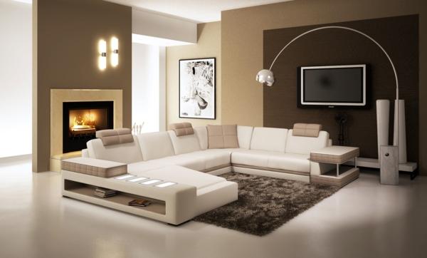 Le salon d 39 angle cuir votre endroit chic pr f r e for Salon blanc et beige design