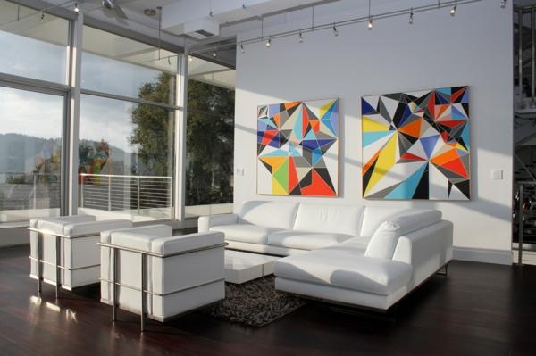 salon-d'angle-cuir-blanc-avec-fauteuils