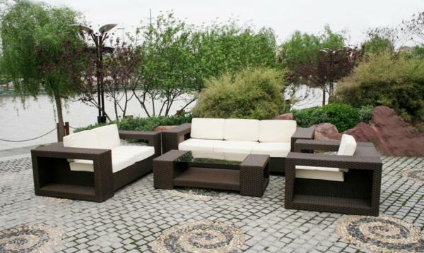 Salon de jardin rotin blanc - La redoute meubles de jardin ...