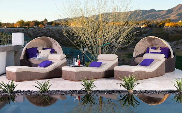 un salon de jardin contemporain 50 id es fascinantes pour son am nagement et d coration. Black Bedroom Furniture Sets. Home Design Ideas