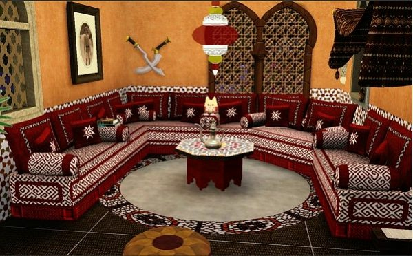 Beautiful salon marocain moderne rougeetnoir contemporary amazing
