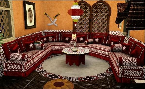 decoration mur salon marocain