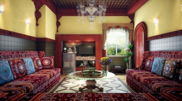 décoration salon sejour marocain