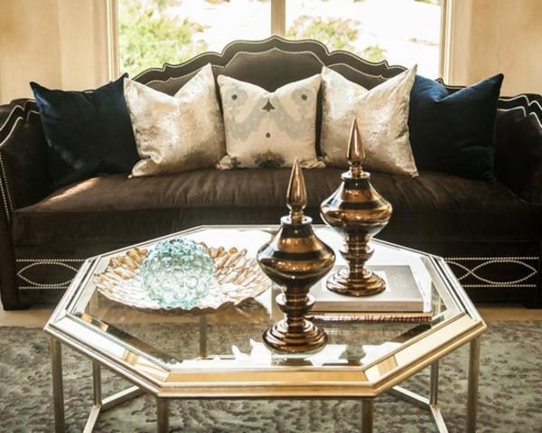 La d coration salon marocain la symbiose entre tradition - Table basse salon marocain ...
