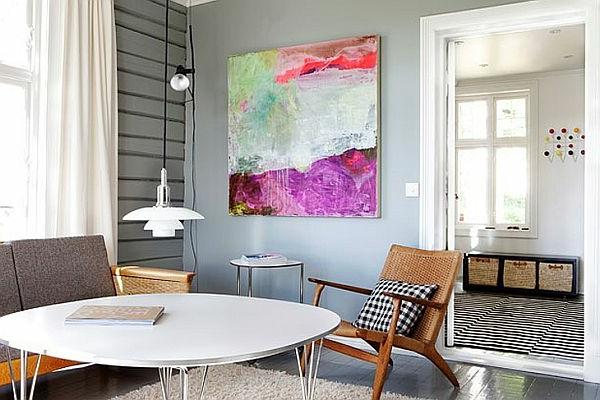 meuble-design-scandinave-et-une-jolie-peinture