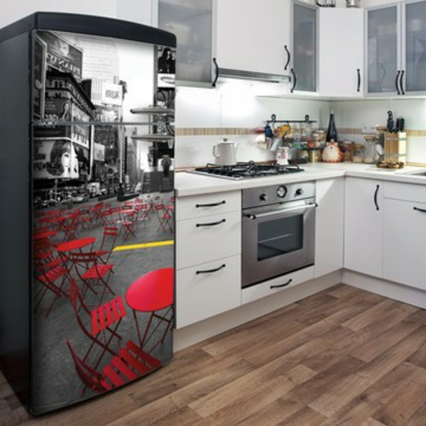 Le sticker frigo amusant ou beau fait votre cuisine accueillante ...