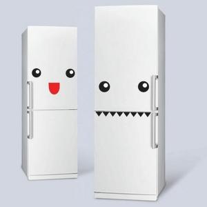 Le sticker frigo amusant ou beau fait votre cuisine accueillante