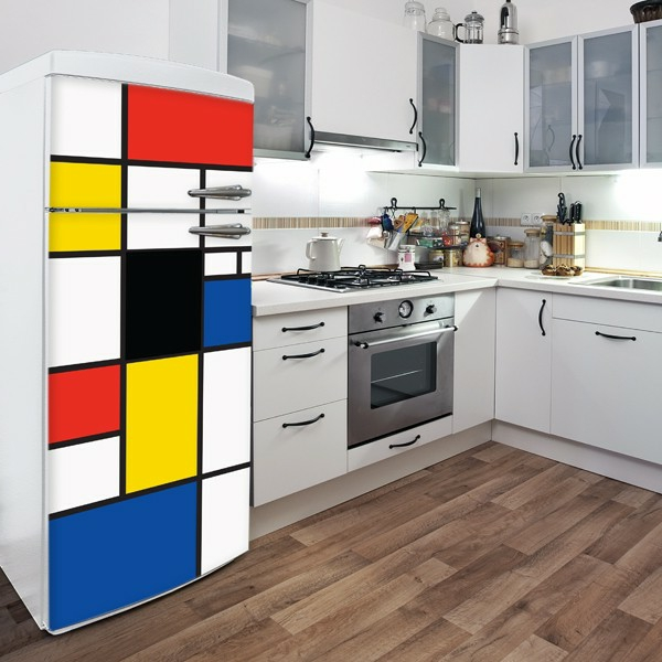 le sticker frigo amusant ou beau fait votre cuisine accueillante. Black Bedroom Furniture Sets. Home Design Ideas