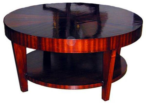 table-basse-art-deco-mahagone-ronde
