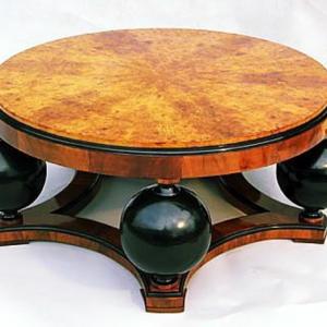 La table basse art déco apportera une touche unique à votre intérieure