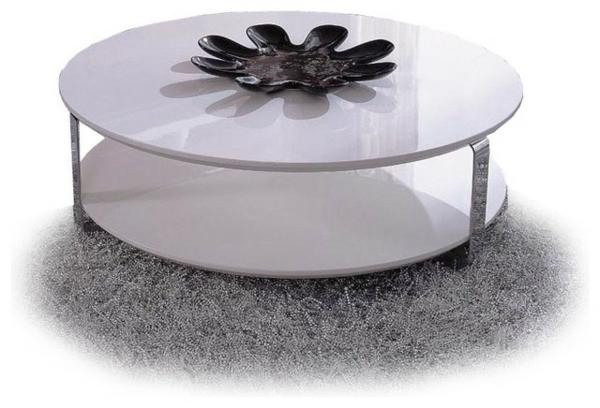 Table Laquee Blanche Ronde Sammlung Von