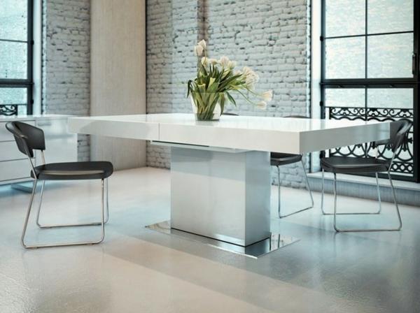 table-laquée-blanche-longue-et-étroite