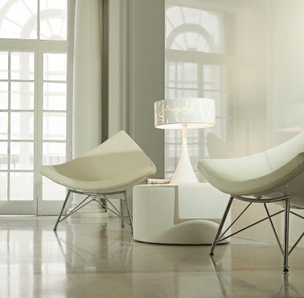 table-laquée-blanche-basse-et-deux-sofas-extraordinaires