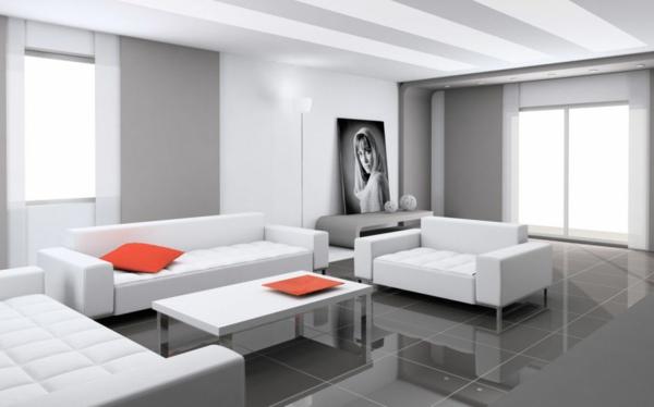 table-laquée-blanche-dans-un-intérieur-minimaliste