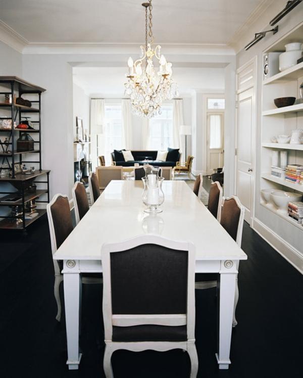 table-laquée-blanche-rectangulaire