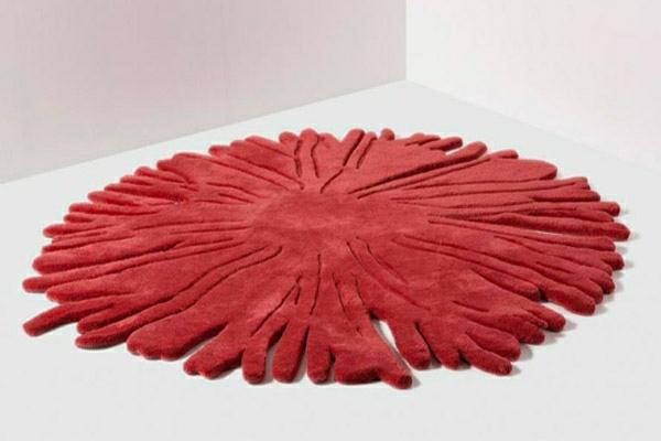 tapis-rond-shaggy-fleur
