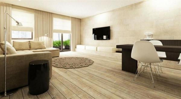 tapis-rond-shaggy-interieur-contemporain
