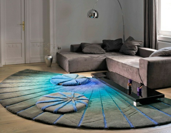 tapis-rond-shaggy-interieur-fascinant