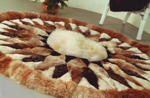 tapis-rond-shaggy-laine-alpaca
