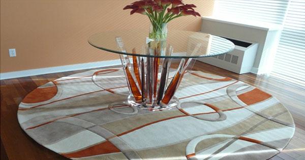 tapis-rond-shaggy-moderne-avec-table-en-verre