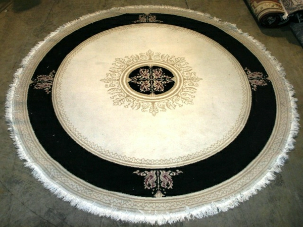 tapis-rond-shaggy-motifs-orientales