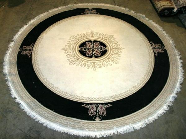 tapis-rond-shaggy-motifs-orientales