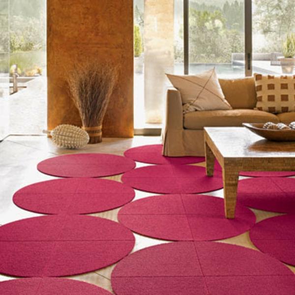 tapis-rond-shaggy-plusieurs-en-violet