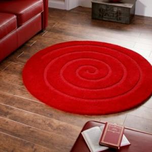 Un tapis rond shaggy - la touche de douceur et du confort dans l'interieur!