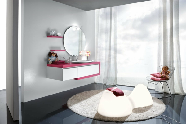 un tapis rond shaggy la touche de douceur et du confort. Black Bedroom Furniture Sets. Home Design Ideas