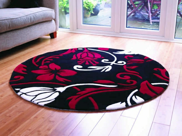un tapis rond shaggy la touche de douceur et du confort dans l 39 interieur. Black Bedroom Furniture Sets. Home Design Ideas
