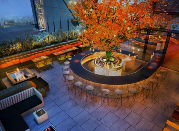 terrasse-sur-toit-café-avec-un-bar-rond