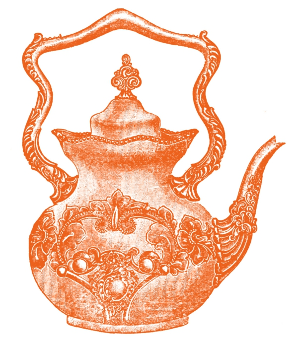 une-théière-originelle-graphique-orange
