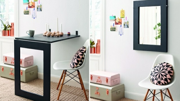 la table murale rabattable est un meuble moderne qui. Black Bedroom Furniture Sets. Home Design Ideas