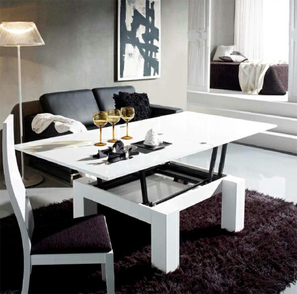 Innovation table de salon relevable for Grande table de salon