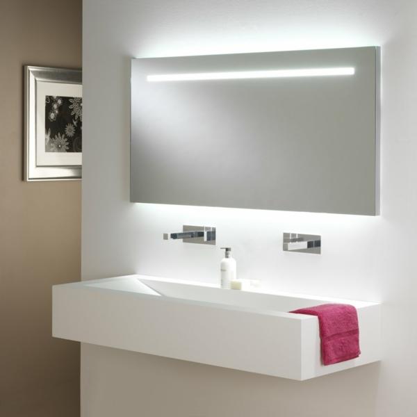 Eclairage Salle De Bain Au Dessus Miroir : Idées d' éclairage de miroir pour la salle de bain
