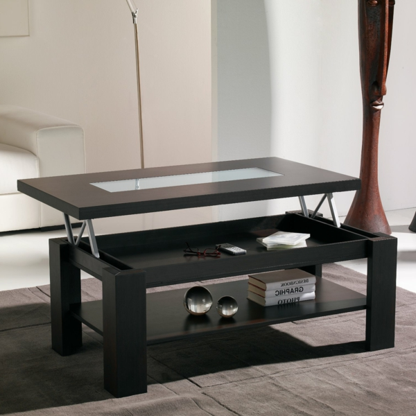 table basse plateau relevable fly great table basse swip. Black Bedroom Furniture Sets. Home Design Ideas