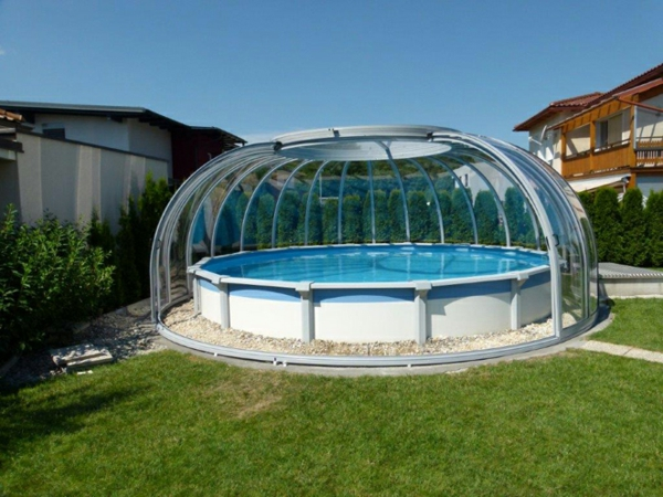 Awesome abri pour piscine ronde pictures for Prix dome piscine